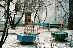 Timur (Barnaby Nutt) Tags: playground poland wroclaw concrete leica m6 kodak portra 400 winter zima polska