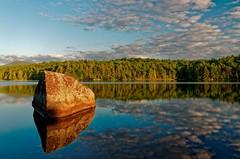 My Rock (The Adirondacks) (Mountain Visions) Tags: landscape adirondacks paddling oldtown canoe camping paddle lake penobscot summer pentax k5iis blue mountain