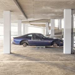 (Danny Holleman) Tags: jaguar car garage square wheels fuji fujifilm xkr
