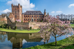 Kasteel Huis Bergh (Karosei) Tags: castle gelderland hollandsewolken kasteel bloesem canal gracht hollandseluchten lente refelction spiegeling spring ©2017karoseiphotography
