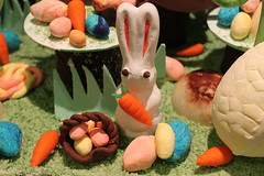 IMG_0248 (sally_byler) Tags: marzipan easter display rabbits bunnies eggs spring fondant