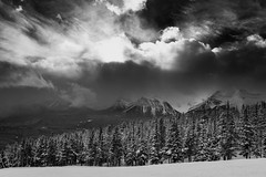 Dark and (Snow) Stormy (Gregory J Scott) Tags: alberta lakelouise january 2017 winter skiing canada