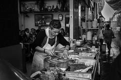 Bangkok Kitchen (Derek Robison) Tags: people food bangkok street thailand travel blackandwhite blackwhite