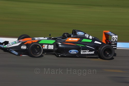 Zhuo Cao in British F4 Race One during the BTCC Weekend at Donington Park 2017: Saturday, 15th April