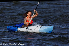 Rough Water For Kayaking (dcstep) Tags: englewood colorado unitedstates us cherrycreekstatepark allrightsreserved copyright2017davidcstephens dxoopticspro1131 nature urban urbannature canon5dmkiv ef500mmf4lisii ef14xtciii n7a7692dxo kayak woman redhair tattoos roughwater cherrycreekreservoir copyrightregistered04222017 ecocase14949772801