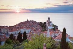 Piran (cappuccino289) Tags: slovenia adria medieval sunset sea