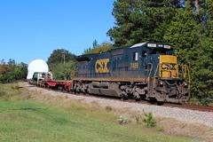 CSX W999-19  Oct. 19, 2014 (Reginald T. McDowell Sr.) Tags: electric florence general gas transportation ge turbine csx subdivision cnl csxt c408 d840c divisin w999