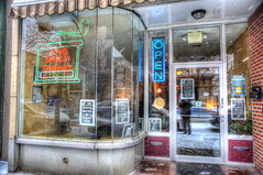 The Daily Grind Coffee House - Troy, NY:  Refuge From The Winter Weather (Adventure George) Tags: winter urban usa newyork coffee retail restaurant us cafe downtown unitedstates unitedstatesofamerica january coffeeshop troy upstatenewyork newyorkstate foodanddrink hdr urbanscenes thedailygrind smallbusiness photomatixpro acdseepro nikond700 photogeorge 463rdst
