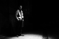 in a dark corner (Michael Moeller) Tags: streetphotography monochrom lensblr luxlit