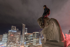 K-night (tomms) Tags: city toronto downtown cityscape pegasus rooftopping