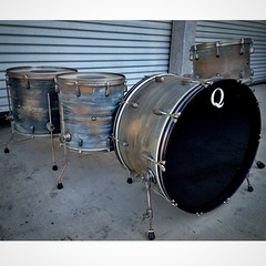 Love Mondays... 26, 14, 16, 18 copper shells, full patina with aged hardware. #qdrumco #copper #postapocalyptic