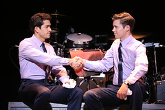 (l to r) Hayden Milanes and Drew Seeley in the Broadway Sacramento presentation of JERSEY BOYS at the Community Center Theater Nov. 5 – 22, 2014. Photo by Joan Marcus.