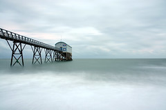 November Sea at Selsey Lifeboat Station, West Sussex (Simon Verrall) Tags: uk longexposure winter sea beach coast pier westsussex lifeboat selsey pagham rnli lifeboatstation selseybill