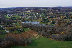 Kite Above Chester Springs (Wind Watcher) Tags: kite color fall yellow lite pennsylvania levitation delta chester springs kap windwatcher