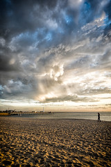 Yeah, Im at the beach (evilDink) Tags: beach water clouds edited australia melbourne victoria fujifilm stkilda xt1 mirrorless niksoftware viveza dfine20 colorefexpro4 xf14mmf28 nikcollectionbygoogle