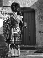 WEDDING PIPER (simongavin83) Tags: wedding people blackandwhite musician music person scotland waiting kilt candid rear pipes scottish monotone musical scot instrument behind piper weddings persons bagpipes musicalinstrument plaid waits bagpiper tartan kilted weddingphotography alloway busbie