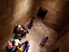 "People looking down into Mastaba Tomb • <a style=""font-size:0.8em;"" href=""http://www.flickr.com/photos/34843984@N07/15354477570/"" target=""_blank"">View on Flickr</a>"