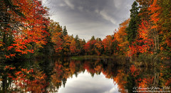 Still Waters & Fall Colours (sminky_pinky100 (In and Out)) Tags: park autumn urban canada fall reflections landscape pretty novascotia scenic colourful shubiepark omot cans2s thecoloursoffall coppercloudsilvernsun exhibitionoftalent masterclassexhibition masterclasselite theguardianofart opticalelegance