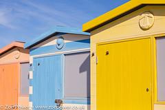 Seaford's pastel pretties (Zoë Power) Tags: sea beach seaside pretty pastel blueskies beachhuts eastsussex seaford