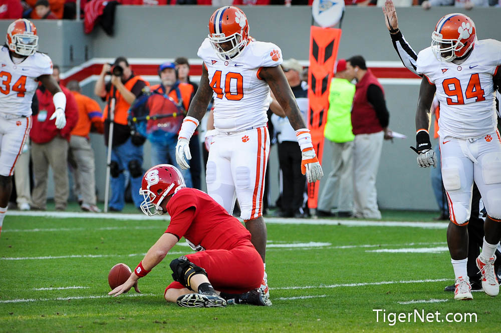 Clemson Photos: 2011, Andre  Branch, Football, N C  State, Rennie  Moore