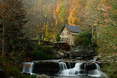Glade Creek Grist Mill 2 (Christopher Wallace) Tags: babcockstatepark westvirginia west virginia wv babcock state park statepark gladecreek grist mill mountains stream creek river longexposure long exposure nd110 bw neutraldensity nikon nikond7000 d7000 digital landscape fall autumn season colours colors trees leaves waterfall 18200mm 18200mmvr 18200 nature greatoutdoors outdoors history heritage culture herbst outdoor water serene