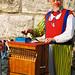 Deutscher Evangelischer Kirchentag Köln 2007. The hurly-gurdy man. Seen on the right-hand bank of the river Rhine