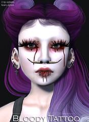 LPM BLOODY TATTOO AD (Voshie) Tags: halloween tattoo dark blood skin avatar goth sl fantasy secondlife seeliecourt slink applier lapetitemorte voshiepaine voshie talesoffantasy saturdaysale