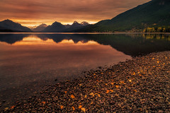 Friendship (JoLoLog) Tags: usa lake mountains reflection sunrise montana mt rockymountains raya glaciernationalpark lorien gnp lakemcdonald canon6d