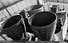 Rocket Thruster Engines Space Shuttle Endeavour B&W Ilford 400 (lhg_11, 2million views. Thank you!) Tags: blackwhite losangeles nasa shuttle museums expositionpark exhibits aerospace conical endeavor californiasciencecenter propulsion thrusters rocketengines