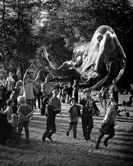 The Bubble (Axel :)() Tags: children blackwhite highcontrast games peopleinthepark