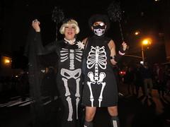 Lady Clover Honey as skeleton, Ryan Janek Wolowski as a skeleton chef marching in the New York City Annual Village Halloween Parade (RYANISLAND) Tags: new york city nyc newyorkcity costumes ny newyork halloween dayofthedead skeleton costume 14 gothic goth parades parade samhain fantasy bones bone celtic skeletons fancydress halloweenparade happyhalloween trickortreating 2014 divination dadelosmuertos dayofdead dademuertos allsaintseve thedayofthedead costumeparties makingjackolanterns samhainfestival allhalloween allhallowsev lightingbonfires
