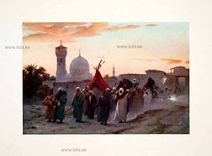 1906 Color Print Wedding Caravan Bride Zaffa Egypt Manzala (kdayes) Tags: art egypt
