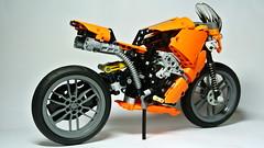 Super Sport Motorcycle (hajdekr) Tags: bike race lego suspension engine motorcycles racing motorbike technic motorcycle racers racer supersport shockabsorber legotechnic legotoyline