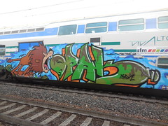 straight out the jungle (en-ri) Tags: train writing torino graffiti lion crew leone sdk giungla opak