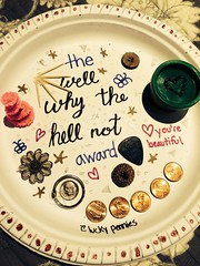 Why the hell not? (vanessa8082) Tags: art paper happy friend craft plate lucky