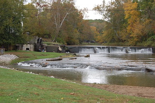 Falls and mill at Mansfield ,Indiana by Russ Allison