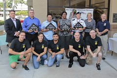 Rep. Matt Hudson pictured with Student Veterans at Florida SouthWestern State College