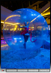 Girls and Toys (Victor Mitri) Tags: show music holiday festival ball mall dubai dancing uae eid floating emirates gymnastic bouncing