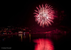 Fireworks Reflections in Port Erin Bay, Isle of Man (manxmaid2000) Tags: red sea beach night reflections bright fireworks guyfawkes isleofman manx