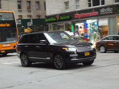 Land Rover Range Rover (JLaw45) Tags: road street new york city nyc england urban black english sport america truck europe european state metro manhattan united north kingdom utility rover midtown land vehicle metropolis british states avenue suv northeast import range luxury affluent