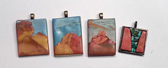 2014-1108--First Four from early 2014 Road Trip (pati b) Tags: original arizona newmexico southwest art monument garden four turquoise polymerclay trail valley gods wearable pendant corners ghostranch patibannisteroriginal