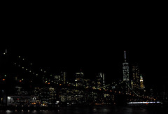 Night (greenelent) Tags: nyc newyorkcity skyline night dark lights cityscape manhattan brooklynbridge photoaday 365
