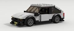 Toyota AE86 (LegoGuyTom) Tags: city classic cars car japan digital race vintage japanese back lego pov designer famous racing legos download toyota hatch 1980s coupe dropbox racer drift hatchback drifter povray ae86 ldd lxf legocity legodigitaldesigner
