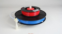 Universal stand-alone filament spool holder (Fully 3D-printable) v08