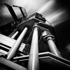 Lippo Centre (Hong Kong Eye) Tags: china longexposure blackandwhite monochrome architecture hongkong monotone lippocentre 2014 garyjones nikond800 nd10stop