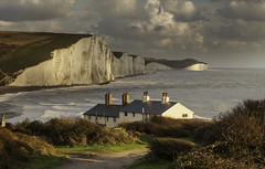 Autumnal Seven Sisters (JamboEastbourne) Tags: park sea england coastguard cliff sisters downs sussex chalk south country cliffs east national seven cottages