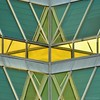 Reflection (Septic Skeptik) Tags: blue white abstract reflection building green window lines yellow triangles square photography mirror photo triangle photographer angle angles mirrors pale line angels points almost identical parallelogram nawak