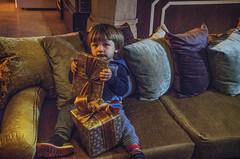 Gifts (Melissa Maples) Tags: boy night turkey restaurant nikon toddler asia child trkiye antalya gifts presents vanilla nikkor blake vr afs  18200mm  f3556g kaleii  18200mmf3556g vanillalounge d5100