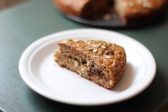 Po de banana, aveia, amndoas e chocolate (anaclara_luppi) Tags: bread baking sweet chocolate vegetarian almonds oats doce po forno assado aveia comidavegetariana amndoas eatsandshoots