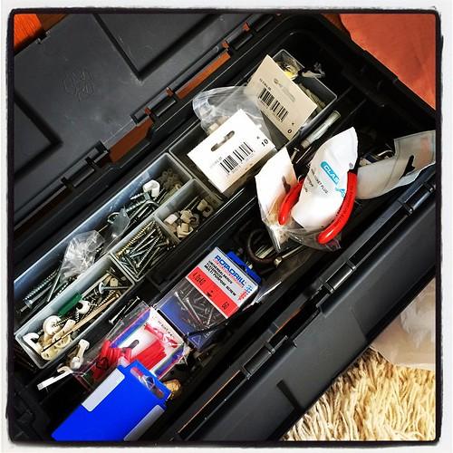 Det finns nog ingen låda jag hatar att öppna mer än denna... #verktyg